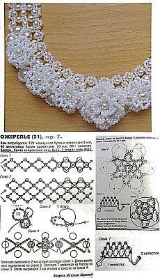 Объемное ожерелье из бисера. Ожерелья из бисера со схемами | Laboratory household