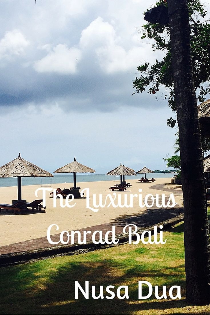The Luxurious Conrad Bali in Nusa Dua, has a sophisticated elegance, and is fun in the sun