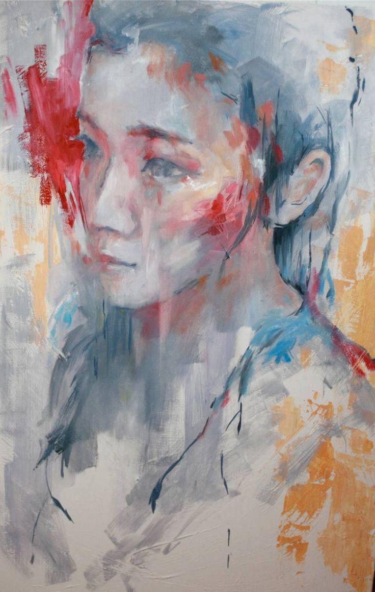 "Saatchi Art Artist Evelyn Hamilton; Painting, ""Ming"" #art"