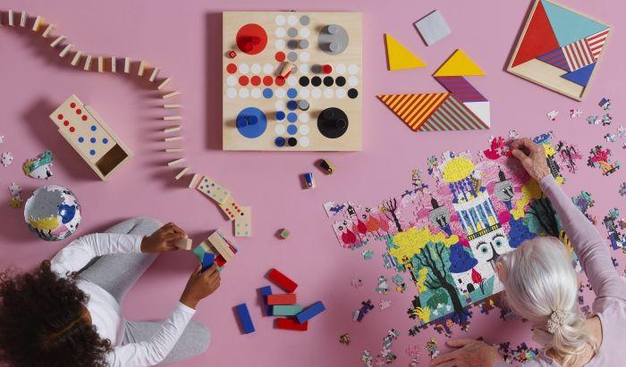 La collezione #LATTJO include una serie di #giochidatavolo come #puzzle, #domino, #tangram e #memory.