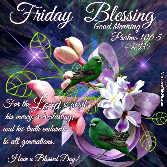 Friday Blessing, Good Morning
