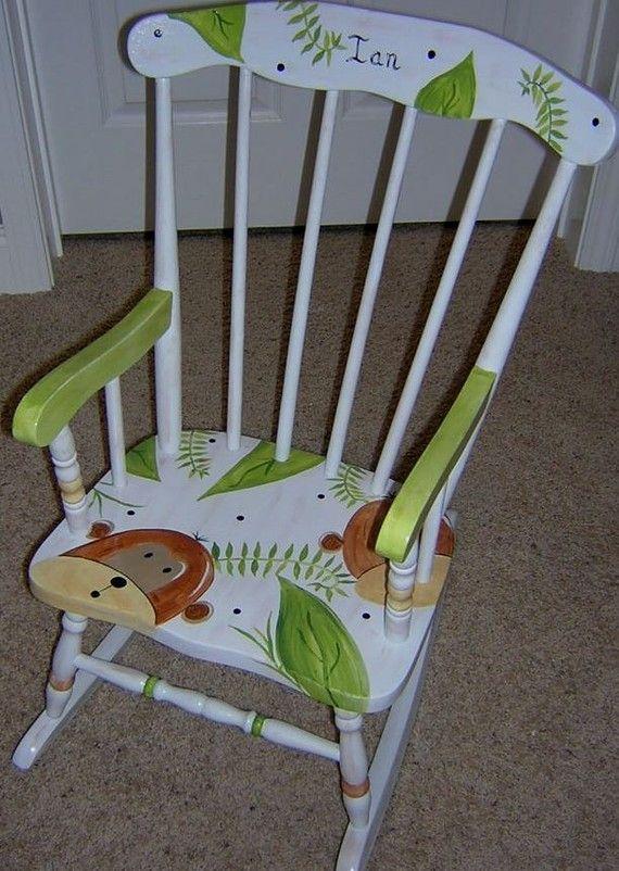 Childrens Rocking Chair Monkey