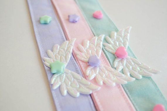 Fairy kei pastel kawaii wing necklace by MademoiselleOpossum