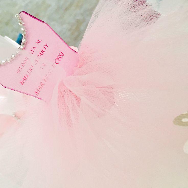 Creiamo partecipazioni e inviti personalizzati ...per una futura ballerina un invito tutù  @cinzialucheroni
