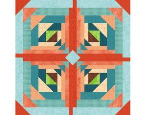 Logging On, Paper Pieced Quilt Block Pattern, log cabin quilt block, instant download, star quilt pattern, geometric quilt, easy quilt by PieceByNumberQuilts on Etsy https://www.etsy.com/listing/107612772/logging-on-paper-pieced-quilt-block