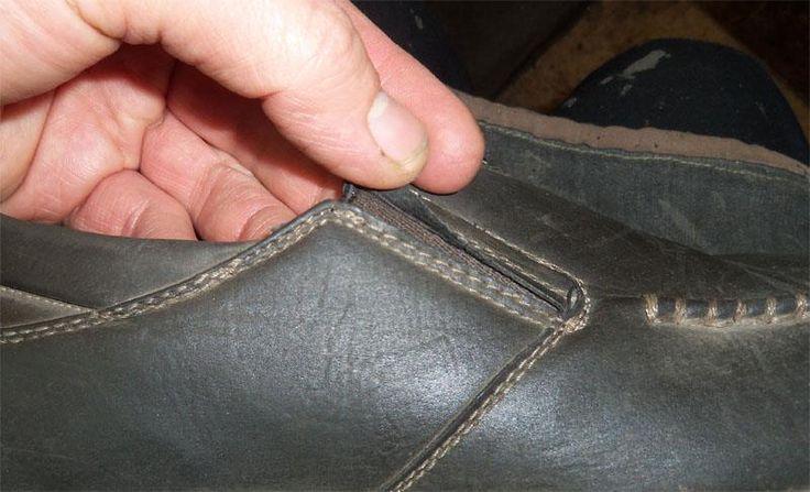 Ботинки из кожа заменителя