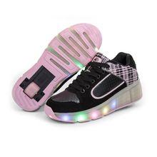 Nieuwe Kind Heelys Jazzy Junior Meisjes Jongens LED Licht Roller Skate Schoenen Voor Kinderen Kids Sneakers Met Wielen chaussure lumineuse(China (Mainland))