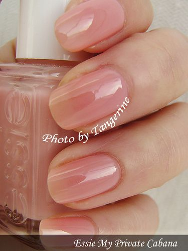 Essie My Private Cabana. My go-to sheer pink. | See more nail designs at http://www.nailsss.com/nail-styles-2014/