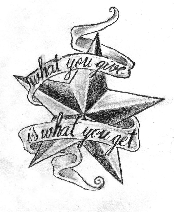 Tattoo template – star with font