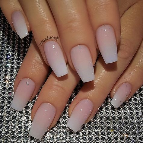 repost   •   classy french fade on coffin nails