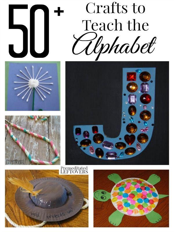 50+ Crafts to Teach the Alphabet