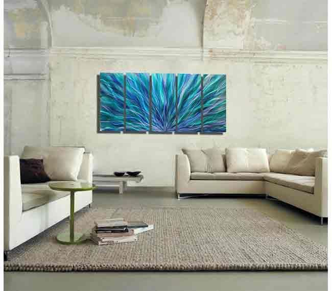 Blue Aurora XL Perfect For Decorating Your Living Room! | Living Room Decor  | Interior · Metal Wall SculptureWall ... Part 84