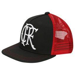 Boné Adidas Flamengo Aba Reta - Preto+Vermelho R$ 109,90