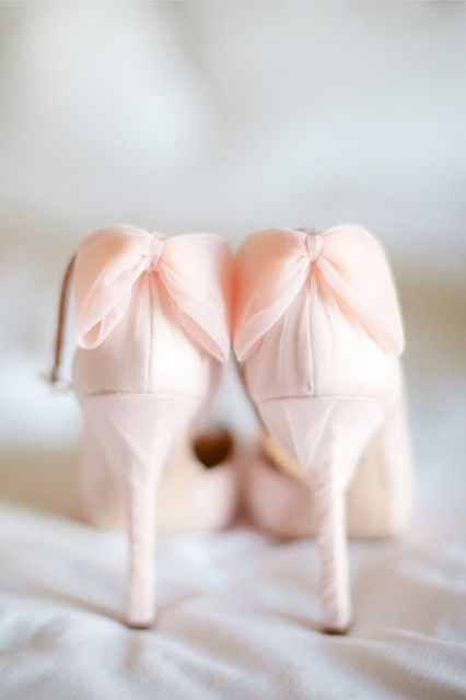 The only thing we love more than these wedding shoes is the wedding dress