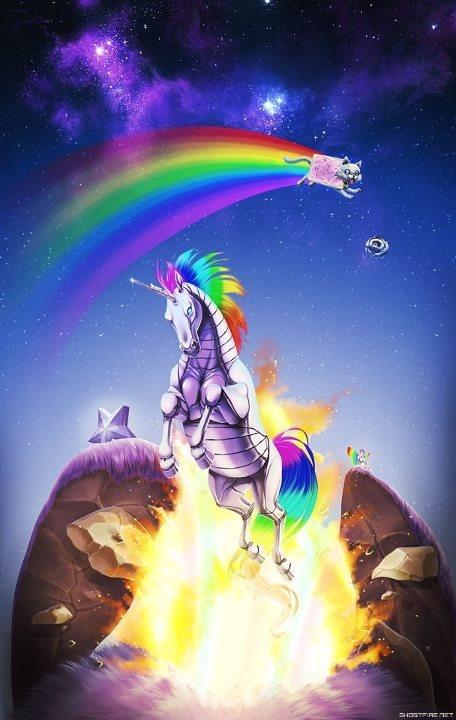 Robot Unicorn Attack & Nyan Cat
