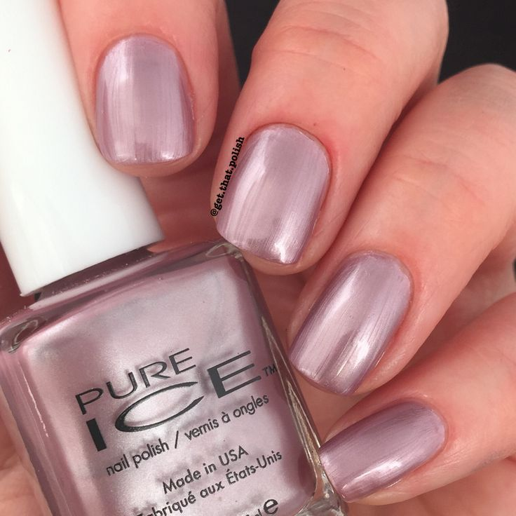 Swatch Of Pure Ice Nail Polish Outrageous By @get.that