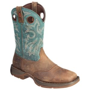 Durango Rebel 11'' Pull-On Western Boots for Men - Tan/Navy - 10.5 M