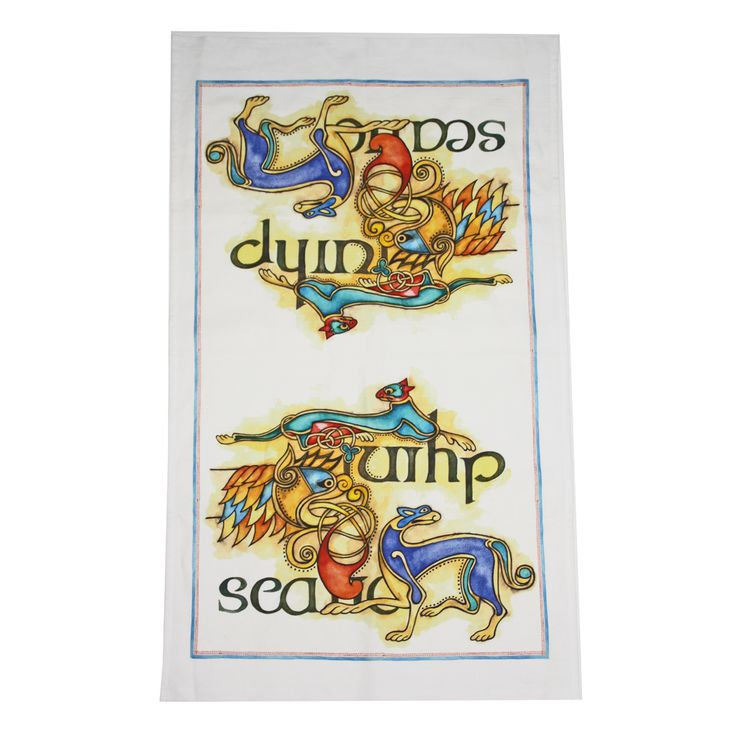 Liven up your kitchen with these beautiful, brightly coloured tea towels from English Heritage's new Celtic Range Designed exclusively for English Heritage, our new Celtic range is inspired by the Lindisfarne Gospels.