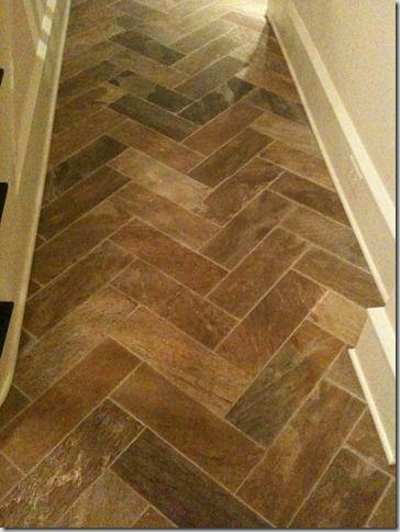 Herringbone tile Things That Inspire  French floors48 best Herringbone Flooring   images on Pinterest   Herringbone  . Faux Wood Tile Herringbone Pattern. Home Design Ideas
