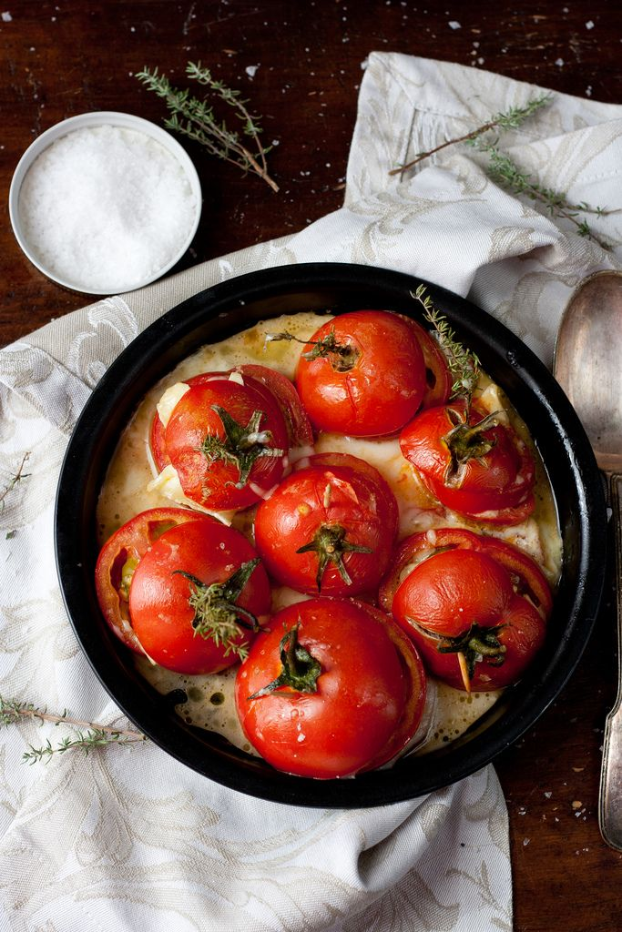 Must make this dish with this summer's tomato crop! Oven Roasted Tomatoes @Jul's Kitchen