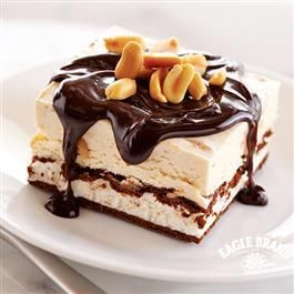Chocolate Peanut Butter Ice Cream Sandwich Dessert from Eagle Brand® Sweetened Condensed Milk