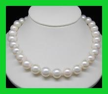 AAA+ 9 - 10 mm perlas de agua dulce blanca oro macizo Natural Pearl Necklace Factory Wholesale price Women Gift les nereides