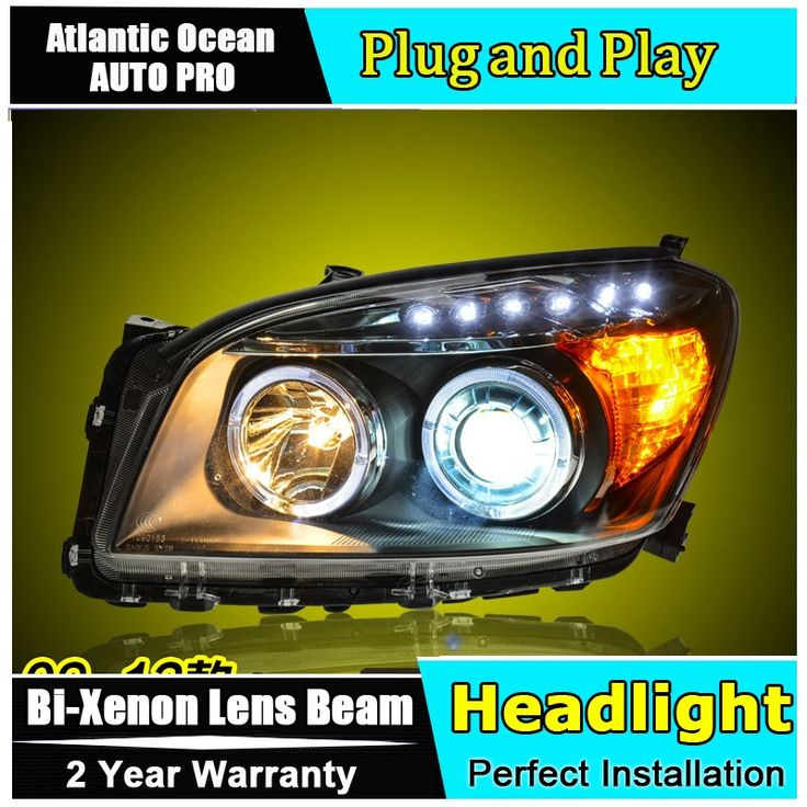 531.10$  Buy here - http://ali8x5.worldwells.pw/go.php?t=32653597052 - car styling For Toyota RAV4headlights U angel eyes DRL 2009-2012 For Toyota RAV4 LED light bar DRL Q5 bi xenon lens h7 xenon 531.10$