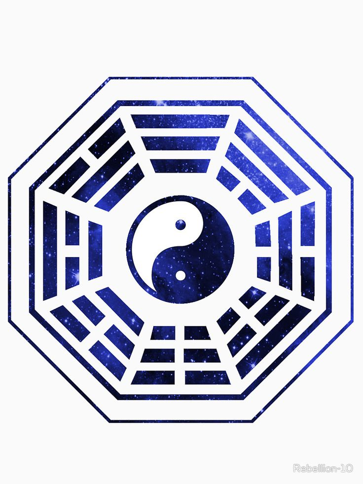 Yet another yin yang bagua design, with a blue space patern. I f you like the yin yang designs then this si the right design for you. Good and evil. Neither can exist without each other.