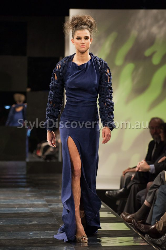 Knitwear for ''A Touch of Wool III - Perth Fashion Festival'', Designer: Rebecca Timson, Photographer: Songy Knox Gown made from WA Superfine Wool