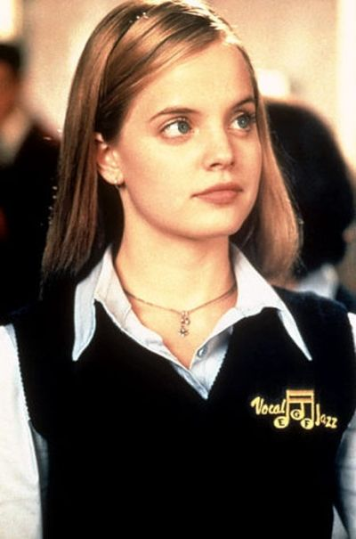 "Mena Suvari – the beautiful school girl in the romantic comedy film ""American Pie"" released in 1999"