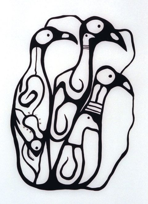 """""""Just Be Bird Forms"""" - Norval Morrisseau"""