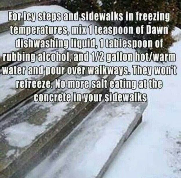 Consider this alternative to sidewalk salt. | 24 Easy Ways To Get Your Home Ready For Winter