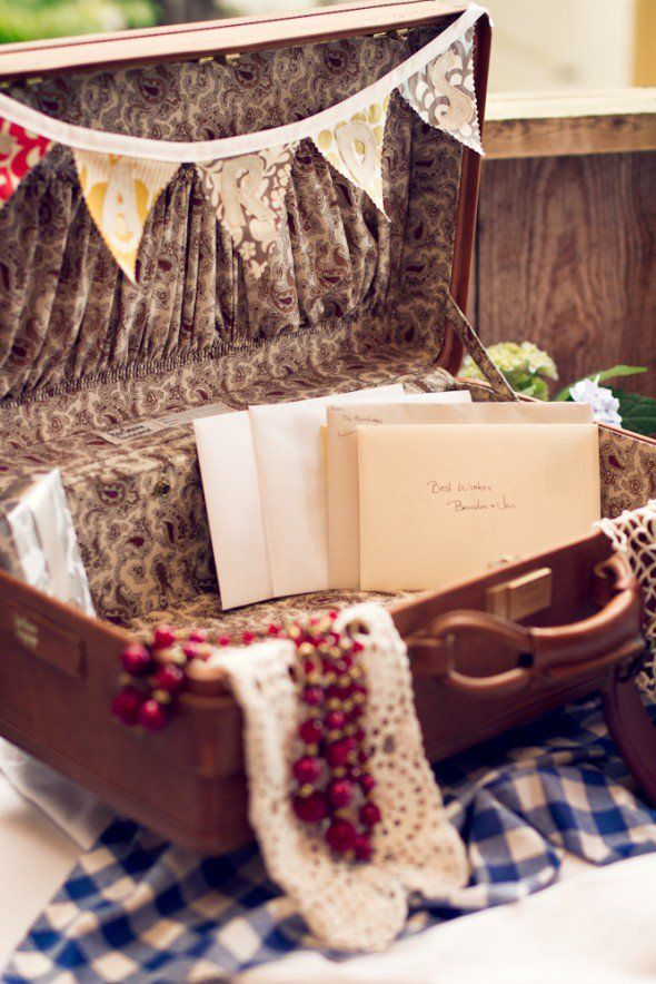 Suitcase At A Country Wedding