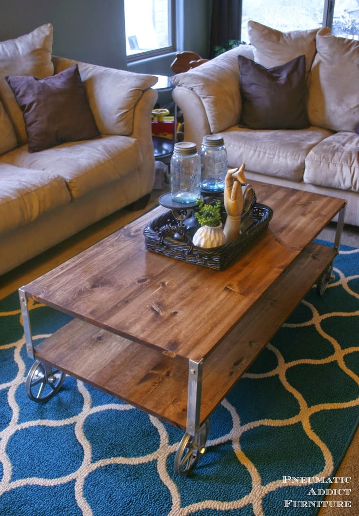 EASY Industrial Coffee Table No Welding