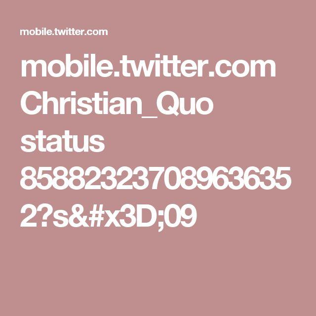 mobile.twitter.com Christian_Quo status 858823237089636352?s=09