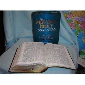 The Matthew Henry Study Bible: King James Version / Black Genuine Leather