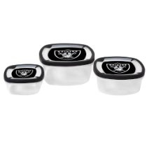 NFL Oakland Raiders Square Storage container set of 3