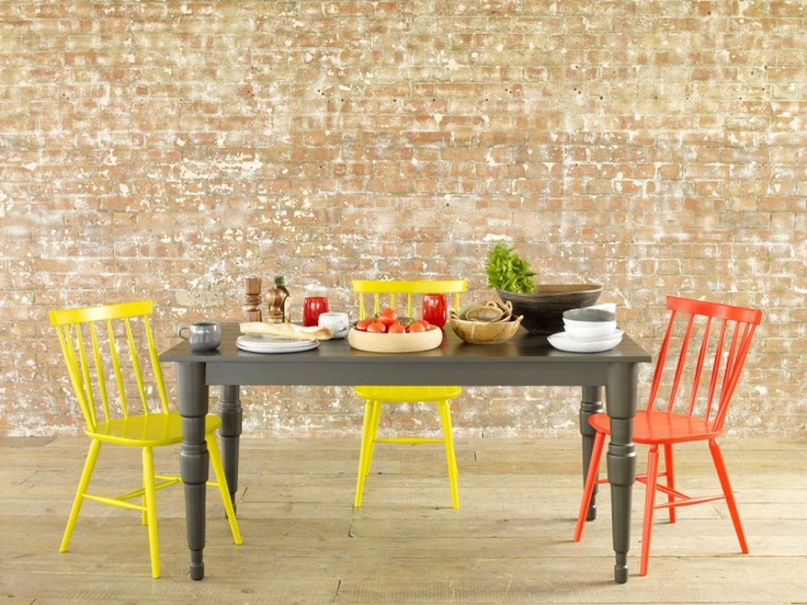 Milner Dining Table And Colourful Talia Chairs Habitat