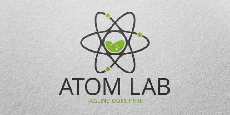 Atom Lab Logo Template for Sale: 29$