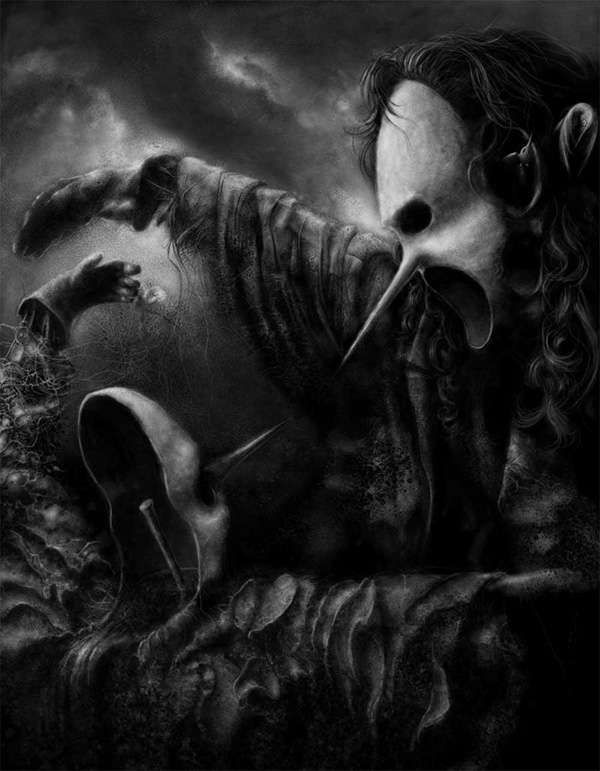 Horrifying Surreal Portraits - Jacek Kaczynski Channels the Dark Side in His Illustrations (GALLERY)