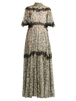 Flower and wave-print silk dress | Valentino | MATCHESFASHION.COM US