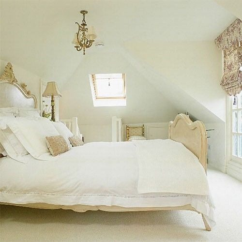 White attic bedroom