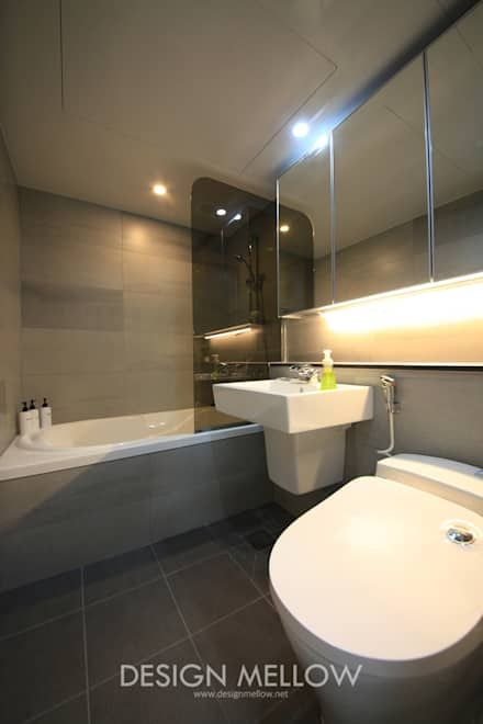 로망이 담긴 34평 아파트 인테리어: 디자인 멜로 (design mellow)의 화장실