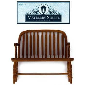 Walnut Colonial Windsor Bench · Windsor BenchBench OnlineMini GardensDollhouse  FurnitureHobby LobbyFabric ...
