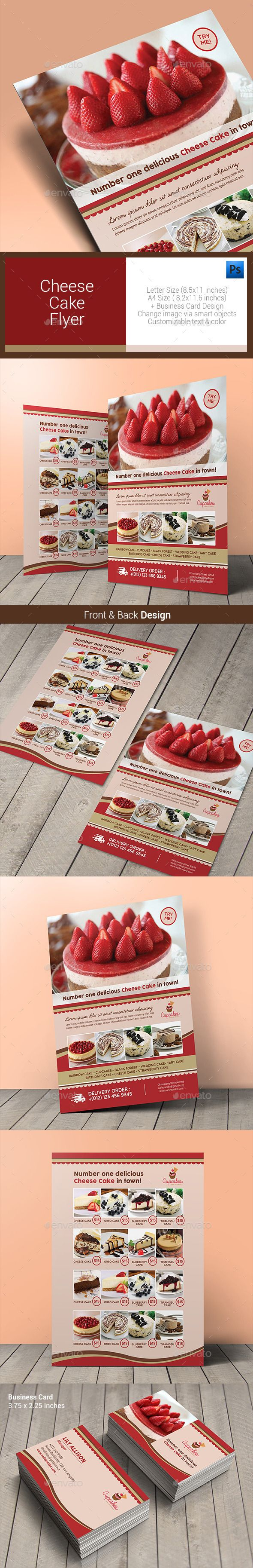 Cheese Cake Menu Flyer Template #menudesign #print  Download: http://graphicriver.net/item/cheese-cake-menu-flyer/10640856?ref=ksioks