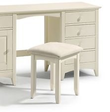 Julian Bowen Cameo Stone White Dressing Table Stool - Free Delivery