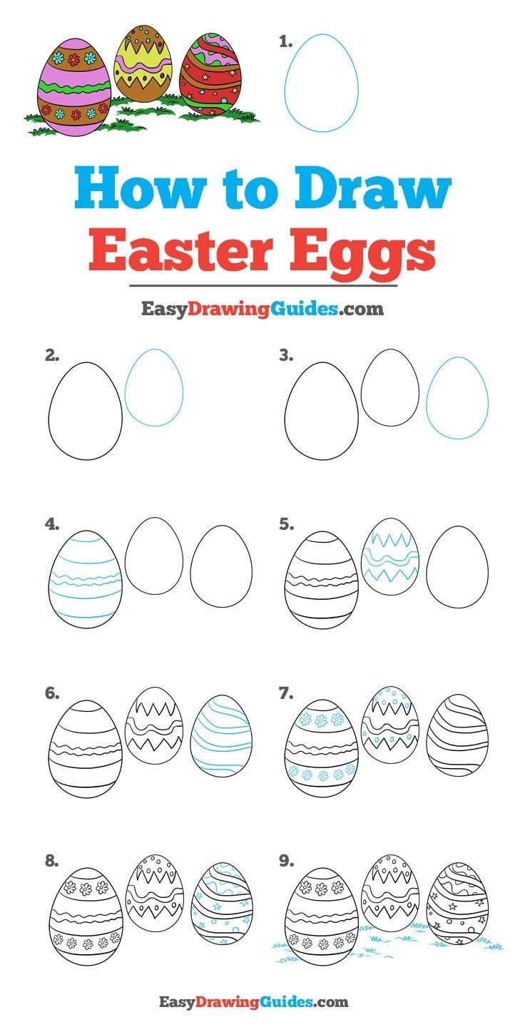 How To Draw Easter Eggs Really Easy Drawing Tutorial Drawing Tutorial Easy Drawing Tutorial Easter Drawings