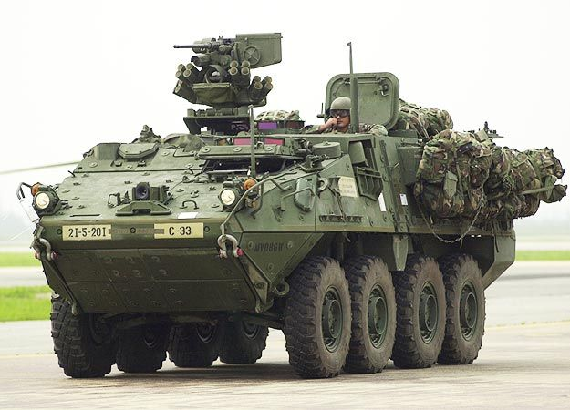the best vehicle in the US military, can go 80 miles an hour, carry 12 pissed of scouts or grunts, and can bring a world of hurt anywhere in the world in 96 hours