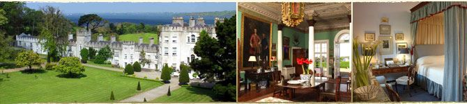 Glin Castle.  Been in the Fitzgerald Family for over 700 years.  Only booking the complete castle.  15 bedrooms.  Do I know that many Fitzgeralds?