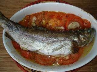 Truite au four à la provençale : petite recette de ma poissonière, Recette Ptitchef
